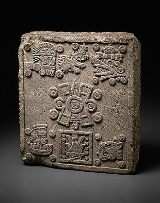 Aztec sun stone - Coronation stone of Motecuhzoma II