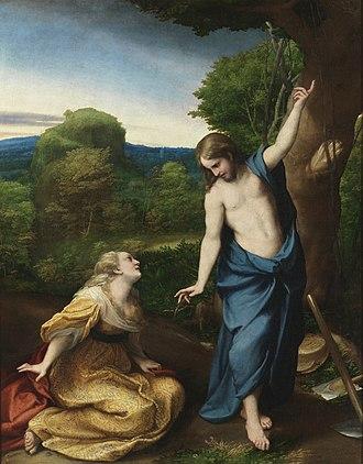 La Vie (painting) - Noli me tangere, Antonio da Correggio