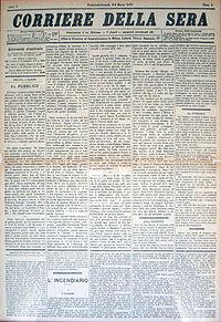 Corriere della Sera – Wikipédia, a enciclopédia livre
