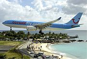 Corsair Airbus A330 at SXM Bidini