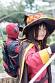 Cosplayers of Deadpool and Megumin at CWT T17 20170225.jpg
