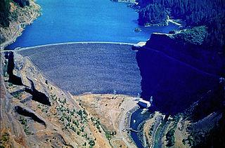 Cougar Dam Dam in Lane County, Oregon, USA