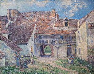 Cour de ferme à Saint-Mammès