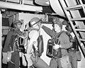 Crewmen wear oxygen-breathing apparatus during a damage control exercise aboard the nuclear-powered aircraft carrier USS ENTERPRISE (CVN 65) - DPLA - 80face54160cb9f1e37ed22bfdda34f4.jpeg