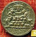 Cristoforo di geremia, medaglia di paolo II, verso con ss. pietro e paolo, gregge e palme.JPG