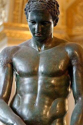 Archaeological Museum in Zagreb - Image: Croatian Apoxyomenos Louvre n 06