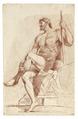Croquisteckning föreställande naken man, 1760-tal - Skoklosters slott - 99208.tif