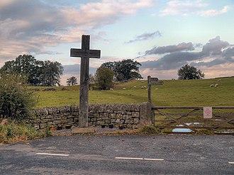 Battle of Heavenfield - Heavenfield: cross and battlefield