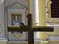 Crucifix with Pigeon and Facade - La Merced Cathedral - Antigua Guatemala - Sacatepequez - Guatemala (15916122272).jpg