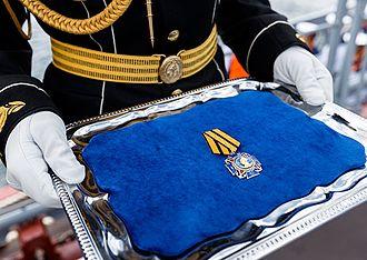 Order of Nakhimov - The cruiser «Moskva» («Moscow») was awarded the Order of Nakhimov. Sevastopol, 22 Jul 2016.