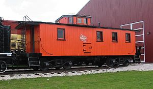 Glossary of North American railway terms - A cupola-style caboose with an angel seat above