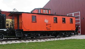 Caboose - A cupola caboose at the US National Railroad Museum