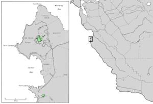 Cupressus goveniana - Image: Cupressus goveniana range map 4