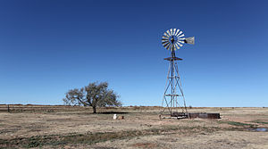 Eastern New Mexico - Windmill north of Bellview, Curry County, New Mexico