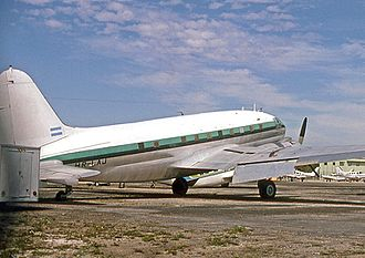 Curtiss C-46 Commando - Curtiss C-46R/Super 46C post-war modified C-46D od LANSA Honduras in 1978