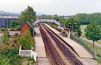 Cwmbran railway station - Image: Cwmbran station geograph 3859536 by Ben Brooksbank