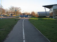 Cycle path along Kingsclere Road - geograph.org.uk - 701953.jpg