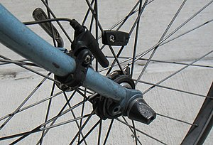 Cyclocomputer - Wired reed switch sensor with spoke mounted magnet.