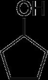 Strukturformel von Cyclopentanol