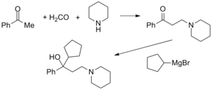 Cycrimine - Image: Cycrimine synthesis