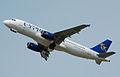 Cyprus Airways Airbus A320-200 (5B-DCL) departs London Heathrow Airport 2ndJuly2014 arp.jpg