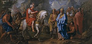 "Orontes I Sakavakyats - ""Cyrus interrogates the king of Armenia"", painting by Noël Coypel"