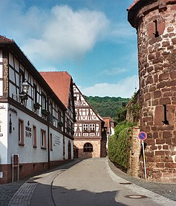 Dörrenbach, view to the town hall