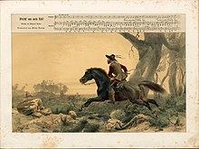 """""""Streich' aus mein Roß!"""", Gedicht von Emanuel Geibel, Illustration von Carl Friedrich Lessing (Quelle: Wikimedia)"""