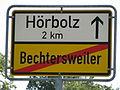 D-BY-Lindau-Bechtersweiler - Ortsschild nach Hoerbolz.JPG