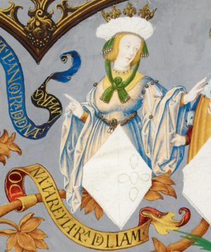 Theresa of Portugal, Queen of León - Theresa in Genealogy of the Kings of Portugal (António de Holanda, 1530–1534)