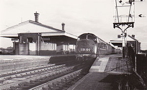 Filton Abbey Wood railway station - A train for Wales passes through Filton Junction in 1962.