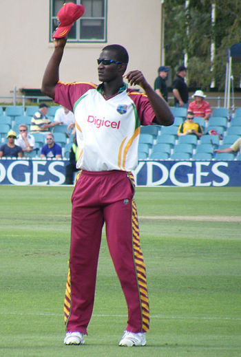 Darren Sammy at the Prime Ministers 11 Cricket...