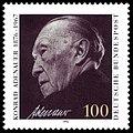 DBP 25. Todestag Konrad Adenauer 100 Pfennig 1992.jpg