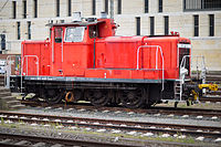 DB class V60 shunting locomotive central station Hannover Germany.jpg