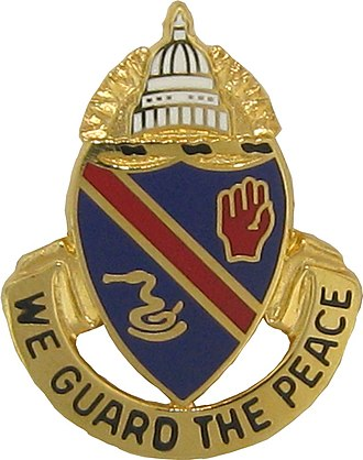 Army National Guard units with campaign credit for the War of 1812 - Distinctive Unit Insignia: 372 MP Bn