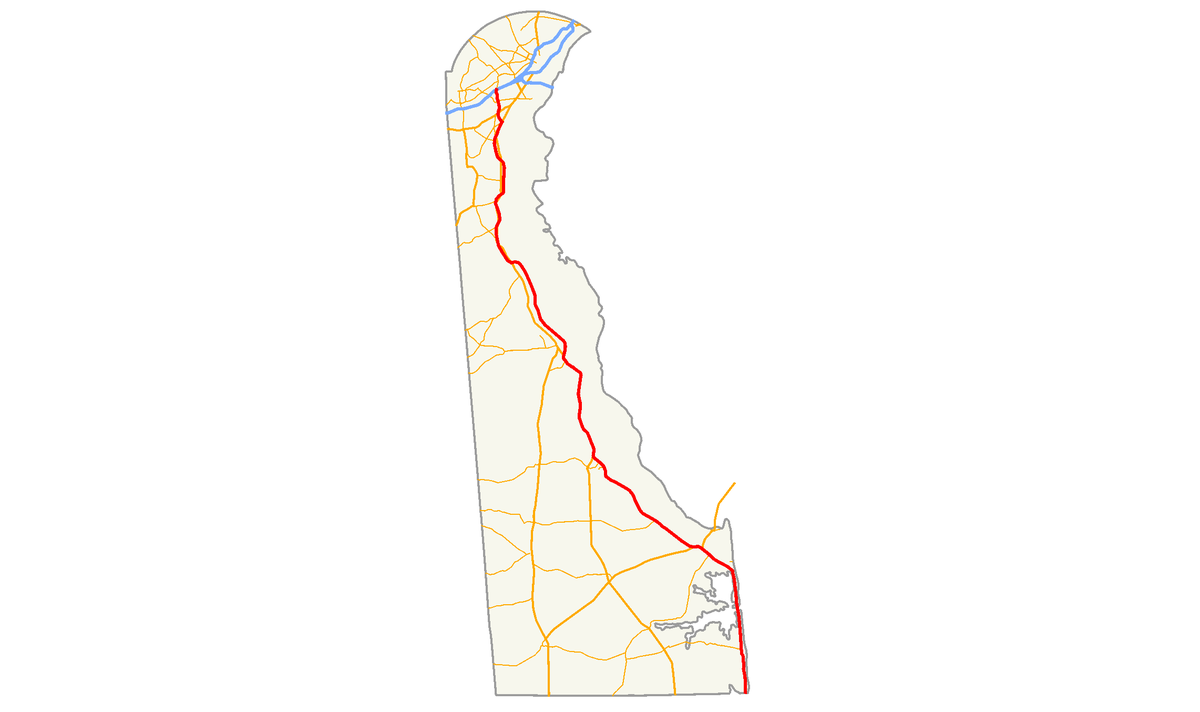 Delaware Traffic Map.Delaware Route 1 Wikipedia