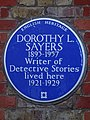 DOROTHY L. SAYERS 1893-1957 Writer of Detective Stories lived here 1921-1929.jpg