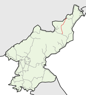 Paengmu Line The railway which connects Paegam with Musan in DPRK.