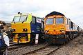 "DR98923 and 66736 ""Wolverhampton Wanderers"" (7468194444).jpg"