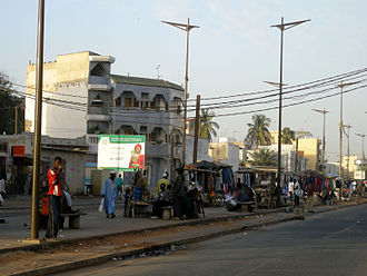 Dakar - Market street in the working class Gueule Tapée quarter