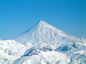 Summit - The summit of Mount Damavand, Iran, in winter