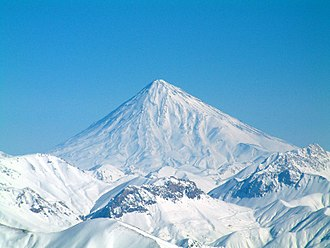 Conical hill - Mount Damavand, Iran