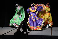 Dancing at the Wikimania 2015 Opening Ceremony IMG 7608.JPG