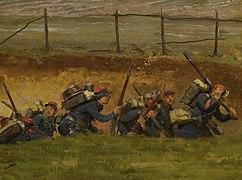Dans un ravin. Lignards (n°1), fragment du panorama de La Bataille de Champigny.jpg
