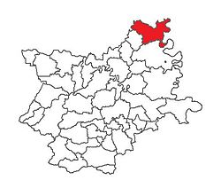 Location of Draž in Osijek-Baranja County