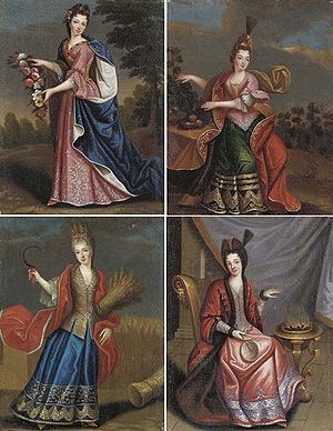 Pierre Gobert - Image: Daughters of Henri Jules de Bourbon, Gobert