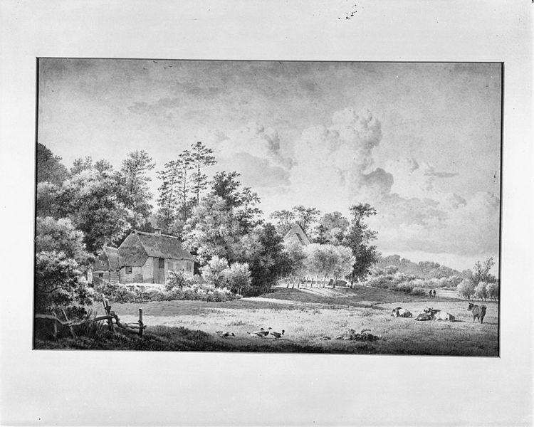 File:De Grote en de Kleine Mussenberg, penseeltekening 19e eeuw - Beek - 20028926 - RCE.jpg