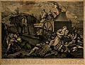 Death and three fates on an ox-driven carriage; historical f Wellcome V0007578.jpg