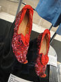"Debbie Reynolds Auction - Judy Garland ""Dorothy Gale"" Arabian-pattern test ""Ruby Slippers"" from ""The Wizard of Oz"".jpg"