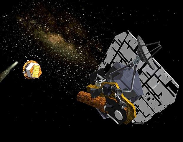 Die Sonde Deep Impact begleitet den Kometen Tempel 1 image source
